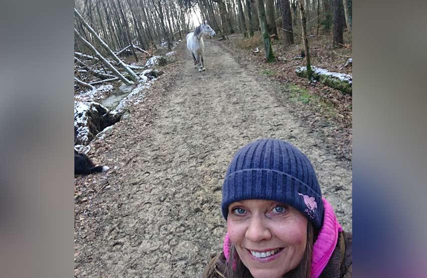 Coaching Spaziergang Pferd Hund 3
